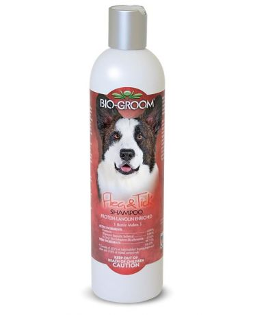 Bio-Groom Flea & Tick Shampoo for Dogs & Cats 12oz