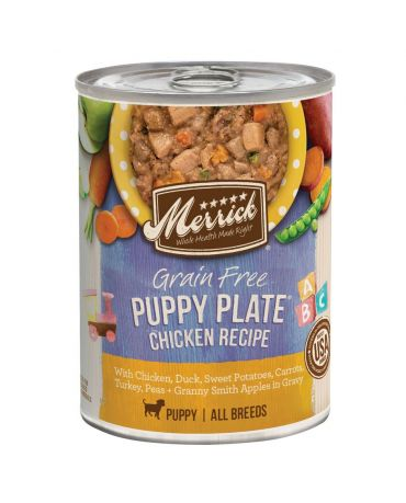 Merrick Classic Grain-Free Puppy Plate Chicken Canned Dog Food 12.7oz