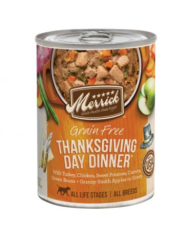 Merrick Classic Grain-Free Thanksgiving Day Dinner Canned Dog Food 12.7oz