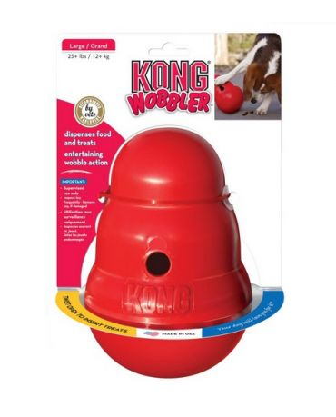 KONG Wobbler Treat Puzzle Dog Toy Red Large