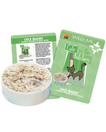 Cats in the Kitchen Chick Magnet Cat Food Pouch 3oz