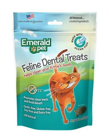 Emerald Pet Feline Dental Treat Ocean Fish 3oz