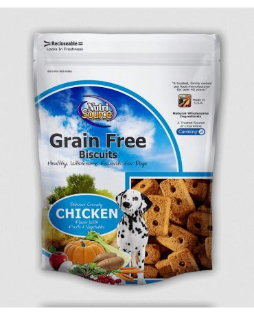 NutriSource Grain-Free Dog Biscuit Chicken Formula 14oz