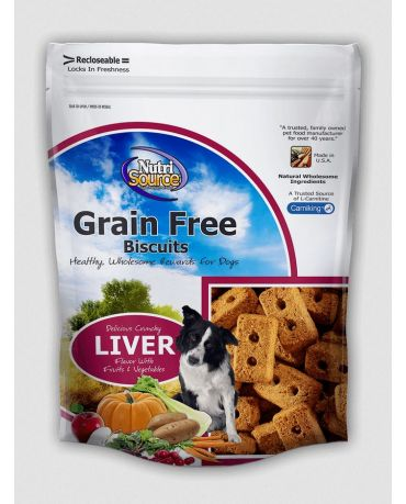 NutriSource Grain-Free Dog Biscuit Liver Formula 14oz