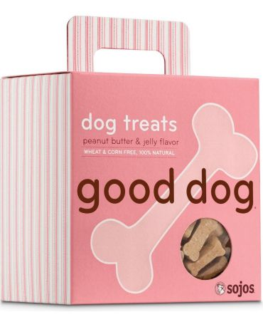 Sojos Good Dog Peanut Butter & Jelly Flavor Baked Dog Treat 8oz