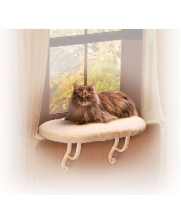 K&H Kitty Sill Fleece Cat Window Perch