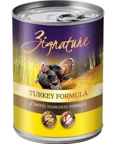 Zignature Grain-Free Turkey Formula Canned Dog Food 13oz