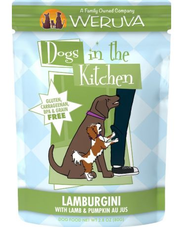 Dogs in the Kitchen Lamburgini Wet Dog Food Pouch 2.8oz