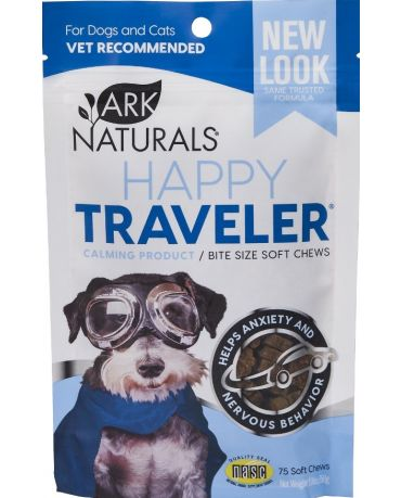 Ark Naturals Happy Traveler for Dogs and Cats, 75 Soft Chews