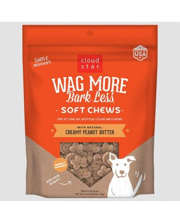 Wag More Bark Less Soft & Chewy Creamy Peanut Butter Dog Treats 6oz
