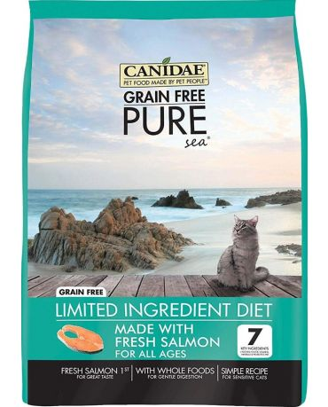 CANIDAE Grain-Free PURE Sea Real Salmon Recipe Dry Cat Food 5lb