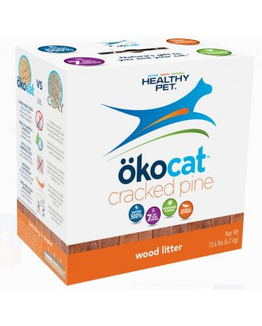 Okocat Natural Cracked Pine Wood Cat Litter 13.6lb