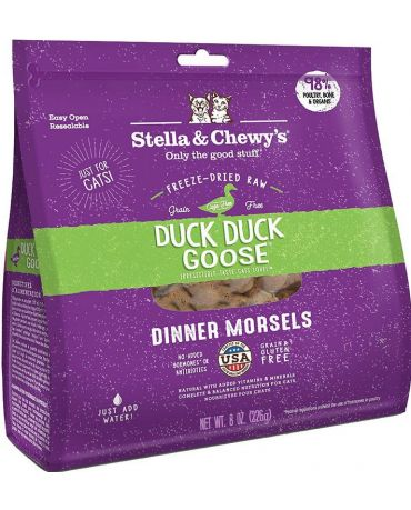 Stella & Chewy's Duck Duck Goose Freeze-Dried Raw Cat Food 8oz