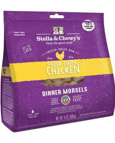 Stella & Chewy's Chick, Chick, Chicken Freeze-Dried Raw Cat Food 8oz
