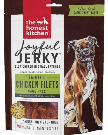The Honest Kitchen Joyful Jerky Grain-Free Chicken Filets Dog Treats 4oz