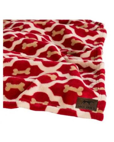 Tall Tails Red Bone Dog Blanket 30 Inches By 40 Inches