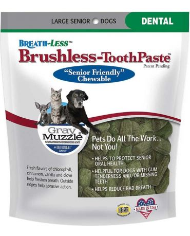 Ark Naturals Gray Muzzle Brushless Toothpaste for Senior Dogs, Large 7.8oz