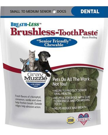 Ark Naturals Gray Muzzle Brushless Toothpaste for Senior Dogs, Small/Med 4.1oz