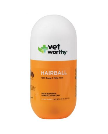 Vet Worthy Hairball Aid for Cats, 45 Soft Chews