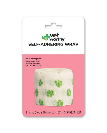 Vet Worthy Self-Adhering Pet First Aid Wrap, Single Roll
