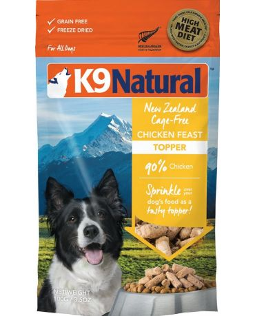 K9 Natural Chicken Feast Freeze-Dried Dog Food Topper 3.5oz