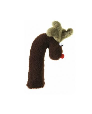 West Paw Cane Deer Holiday Crinkle Plush Toy Chocolate