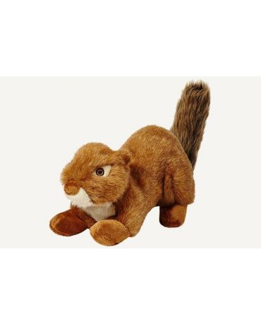 Fluff & Tuff Red Squirrel Squeakerless Plush Dog Toy Large