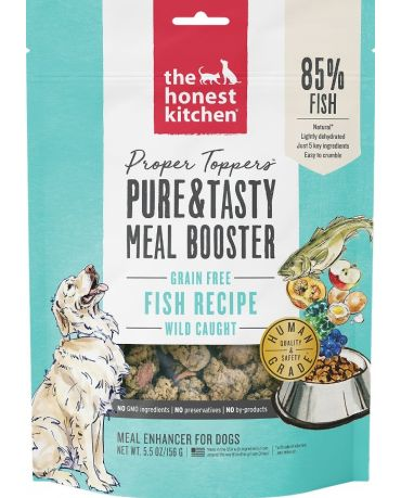 The Honest Kitchen Proper Toppers Grain-Free Fish Recipe Meal Booster 5.5oz