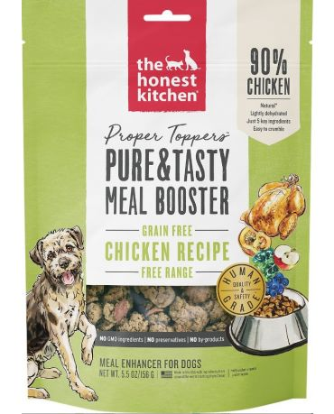 The Honest Kitchen Proper Toppers Grain-Free Chicken Recipe Meal Booster 5.5oz