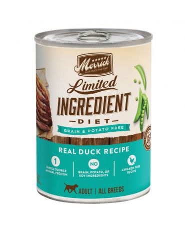 Merrick Limited Ingredient Diet Grain-Free Duck Adult Canned Dog Food 12.7oz