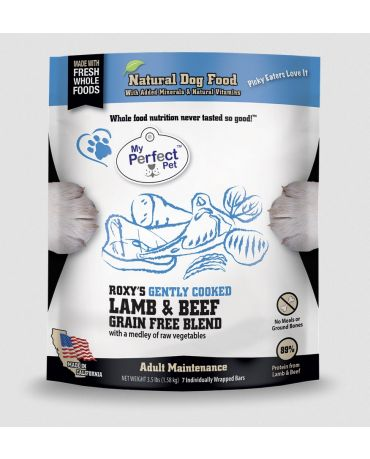 My Perfect Pet Roxy's Lamb & Beef Grain-Free Blend Frozen Dog Food 3.5lb