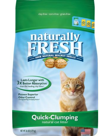 Naturally Fresh Walnut Shell Quick-Clumping Cat Litter 26lb