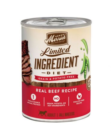 Merrick Limited Ingredient Diet Grain-Free Beef Adult Canned Dog Food 12.7oz