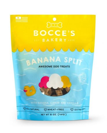 Bocce's Bakery All-Natural Banana Split Dog Biscuits 5oz