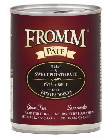 Fromm Grain-Free Beef & Sweet Potato Pate Canned Dog Food 12.2oz
