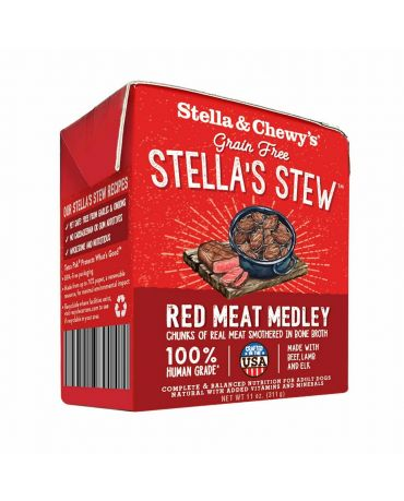 Stella & Chewy's Stella's Stew Red Meat Medley Recipe Wet Dog Food 11oz