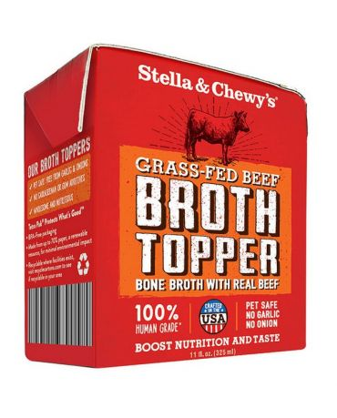 Stella & Chewy's Broth Topper Grass-Fed Beef Bone Broth Recipe 11oz