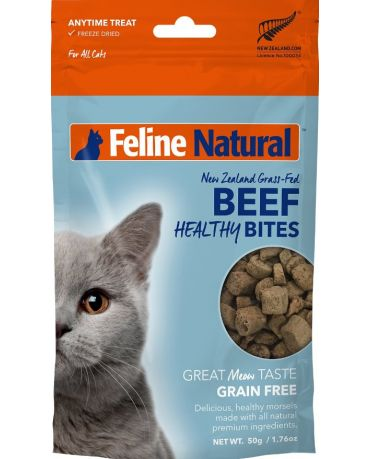 Feline Natural Healthy Bites Beef Freeze-Dried Cat Treats 1.76oz