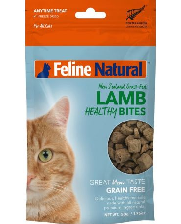 Feline Natural Healthy Bites Lamb Freeze-Dried Cat Treats 1.76oz