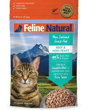 Feline Natural Grain-Free Beef & Hoki Feast Freeze-Dried Cat Food 11oz