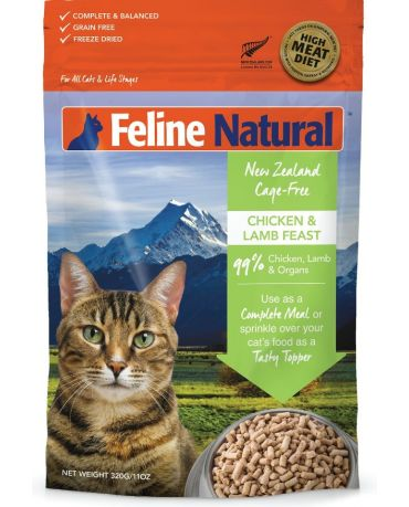 Feline Natural Grain-Free Chicken & Lamb Feast Freeze-Dried Cat Food 11oz