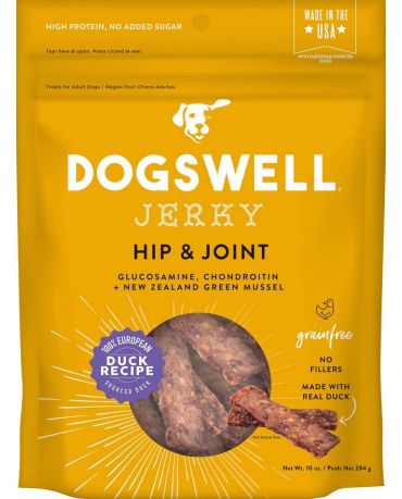Dogswell Grain-Free Hip & Joint Duck Jerky Treats for Dogs 10oz