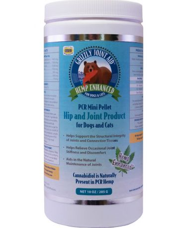 Grizzly Natural PCR Hip & Joint Mini Pellet Supplement for Dogs 10oz