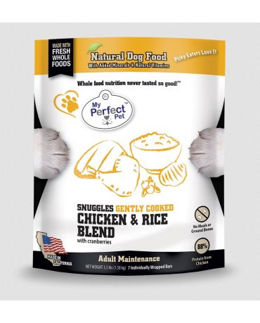 My Perfect Pet Snuggles Chicken & Rice Blend Frozen Dog Food 3.5lb