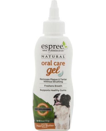 Espree Natural Oral Care Gel for Dogs Peanut Butter Flavor 4oz
