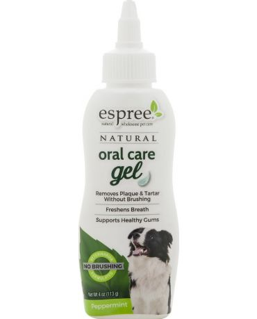 Espree Natural Oral Care Gel for Dogs Peppermint Flavor 4oz