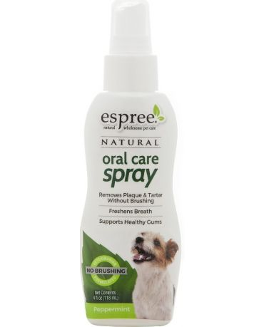 Espree Natural Oral Care Spray for Dogs Peppermint Flavor 4oz