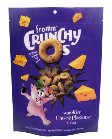 Fromm Crunchy O's Smokin' CheesePlosions Dog Treats 6oz