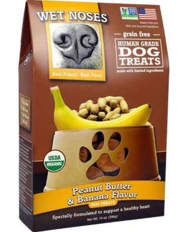 Wet Noses Organic Grain-Free Peanut Butter & Banana Dog Treats 14oz