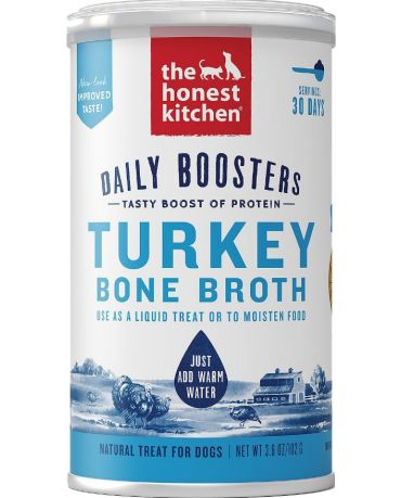 The Honest Kitchen Daily Boosters Instant Bone Broth Turkey for Dogs 3.6oz